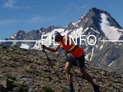 Les 2 Alpes Vertical Trail propose deux courses à pied le deuxième week-end de juillet : la Verticale du diable, ci-contre, une montée de 1900 m de dénivelé positif (D+) sur 7 km, et les 6 heures du Dibale, une montée de 655 m de D+ sur 3 km environ à effectuer le maximum de fois possible en 6 heures. © Clémence Moulin