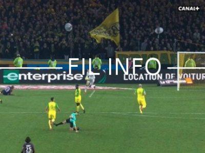 L'arbitre Tony Chapron a vu rouge contre Nantes. © Capture d'écran Canal +