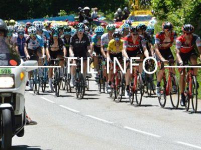 Peloton maillot jaune dans la montée du Col de Sarenne sur le Critérium du Dauphiné Libéré 2017. © Laurent Genin