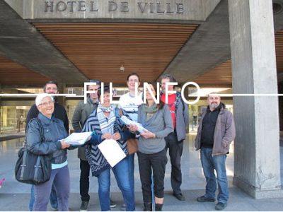 Après un apéro festif devant l'Hôtel de ville, le collectif Touchez pas à nos bibliothèques interviendra au conseil municipal de Grenoble ce lundi 22 mai.