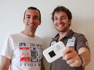 HippocketWifi, borne Wifi de poche d'une start'up incubée à Grenoble Ecole de Management par Alexandre et Matthieu Bichet