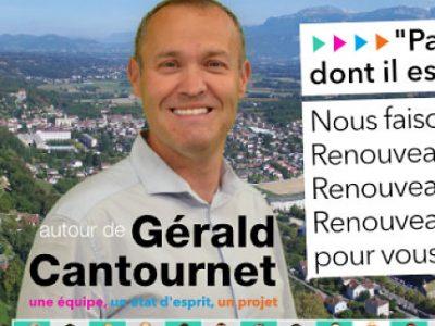 COUV Gérald Cantournet, tête de liste