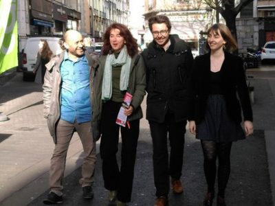 Grenoble en commun Djamel Wazizi, Laure Masson, Maxence Alloto, Margot Belair UNE