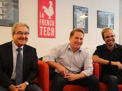 H3C (Meylan) rachetée par l'Alsacien Socomec. de gauche à droite : Jean-Louis Brunet (cofondateur), Cyril Hommel (DG) et Cyril Cachat (cofondateur et directeur commercial)