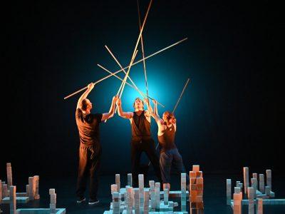 Scène du spectacle visuel et sonore Hippocampe. © Philippe Gisselbrecht