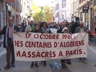 Commémoration des massacres du 17 octobre 1961 à Grenoble. © Joël Kermabon - Place Gre'net