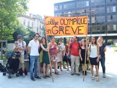 Les enseignants du collège Olympique étaient en grève jeudi 21 juin.