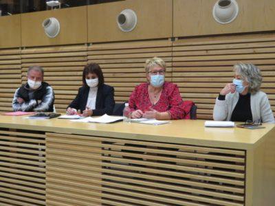 Création d'un collectif échirollois pour le droit à l'alimentation le jeudi 3 décembre2020. © Tim Buisson – Place Gre'net