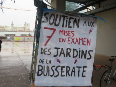 Affiche de soutien aux 7 mis en examen. © Tim Buisson – Place Gre'net