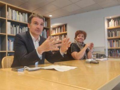 Éric Piolle et Corinne Bernard lors d'un point presse lundi 8 juin. © Julien Morceli – Place Gre'net