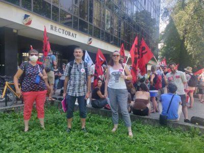 Manifestation des professeurs et des enseignants devant le rectorat de Grenoble, 24 juin 2020© Julien Morceli- Place Gre'net© Julien Morceli- Place Gre'net