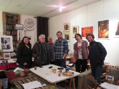 Sept personnes ont participé à la soirée Restons ouverts le lundi 1er février 2021. © Tim Buisson – Place Gre'net