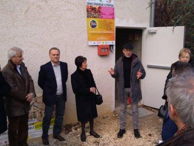 Inauguration Quaix en chartreuse réseau chaleur 23 janvier Energy Citoyenne UNE