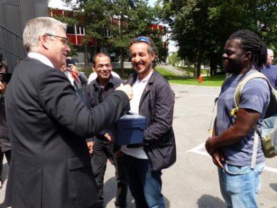 Le Département de l'Isère et ses partenaires du plan THD inauguraient le 15 juin la formation monteur-raccordeur de fibre créée à l'IMT de Grenoble.
