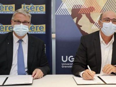 Le Département et l'UGA s'engagent dans une convention pour l'insertion et la formation