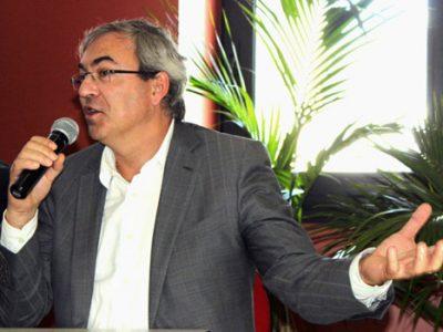 Jean-Yves Gomez, directeur général d'Isorg, lors de la présentation de Vet'innov à Sassenage. © Cyril Fourneris