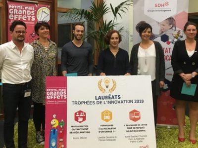 Lauréats Trophées innovation 2019 - SDH - UNE