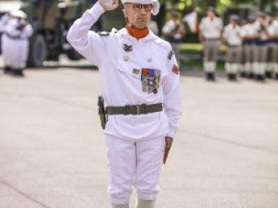 Le colonel Cyril Iordanow lors de sa prise de commandement