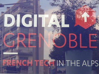 Logo de Digital Grenoble, le label French tech de l'écosystème numérique grenoblois. © Séverine Cattiaux – Place Gre'net