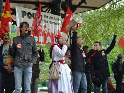 Manifestation contre l'austérité à Grenoble, le 1er juin. © L.Piessat