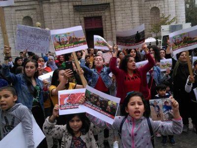 Manifestation en soutien aux Kurdes de Syrie à Grenoble UNE