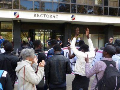 Manifestation jeunes majeurs étrangers grenoble 10 octobre 2019 (UNE