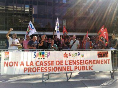 Manifestation lycées professionnels jeudi 27 septembre Rectorat © Florent Mathieu - Place Gre'net