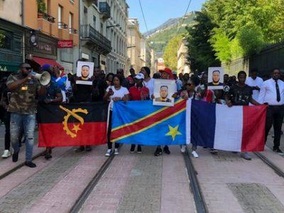 Marche blanche Olivier Manbakasa Gemman UNE