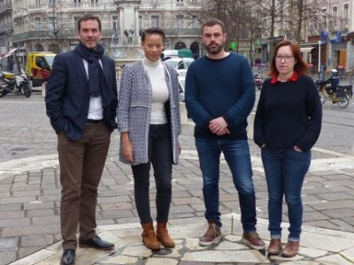 Nicolas Kada Maude Wadelec Luis Beltran Katia Bacher Grenoble en commun UNE