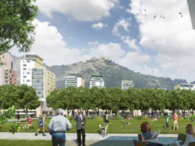 Vue d'artiste du futur parc de l'Esplanade à Grenoble. DR