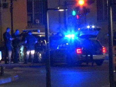 Contrôle policier nocturne. © Joël Kermabon - Place Gre'net