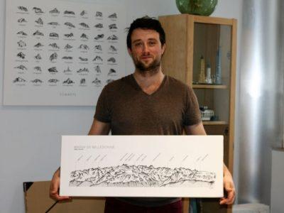 Alexandre Jobert avec un de ses panoramiques. © Fanny Seguela - placegre.net