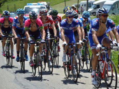 Les coureurs lors du critérium du Dauphiné 2014. © Laurent Genin