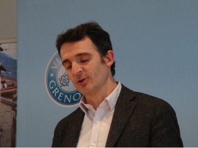 Éric Piolle lors de la présentation du débat d'orientation budgétaire © Joël Kermabon - placegrenet.fr