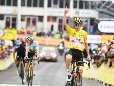 Après avoir survolé le Tour 2021, le Slovène Tadej Pogačar (vainqueur ici à Luz Ardiden) sera de nouveau le grand favori du Tour du France 2022. © ASO - Charly Lopez