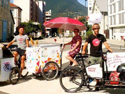 UNE Des professionnels de l'association Boîtes à vélo DR