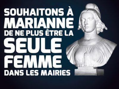 « Souhaitons à Marianne de ne plus être la seule femme dans les mairies. » Campagne de l'ONG Care pour l'égalité politique à l'occasion des municipales de mars 2014. © Twinkle Twinkle