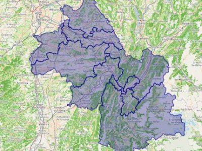 Carte interactive des dix circonscriptions de l'Isère. Législatives 2017