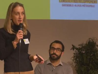 Caroline Schlenker et Mehdi Taboui, co-présidents élus du Conseil de développement de Grenoble-Alpes Métropole. DR