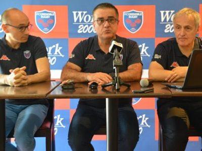 Franck Corrihons, Michel Martinez, Eric Pilaud FC Grenoble rugby. © Laurent Genin