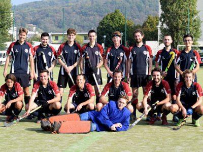 Equipe du Hockey club de Grenoble, hockey sur gazon. © Jocelyne Mangin