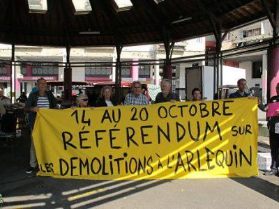 UNE Le premier RIC organisé à Grenoble, portera sur les démolitions de logements sociaux en octobre 2019 © Séverine Cattiaux - Place Gre'net