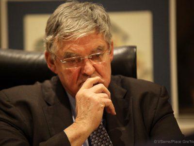 Marc Baïetto, maire sortant d'Eybens battu au second tour par Claudie Mégevand, son ancienne adjointe.