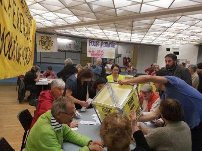 UNE Soirée dépouillement des scrutins du Référendum d'initiative citoyenne de la Villeneuve, dimanche 20 octobre 2019 © Séverine Cattiaux - Place Gre'net