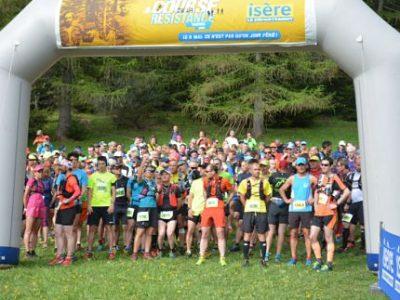Départ du trail 30 km de la course de la Résistance édition 2018. © Alice Belleville