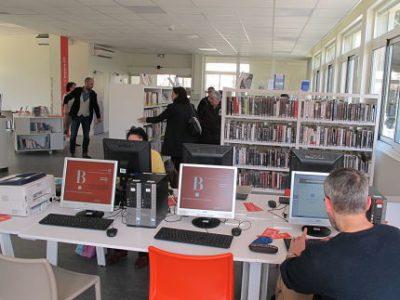 Réouverture de la bibliothèque/Tiers-lieu Alliance après travaux, mardi 10 avril 2018 © Séverine Cattiaux - placegrenet.fr
