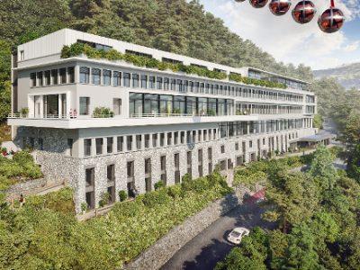Préfiguration de la future résidence hôtelière d'Axis. © Axis