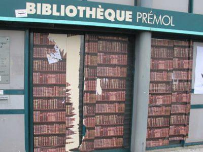 Les livres et le matériel informatique de l'ex-bibliothèque de quartier Prémol ont été déménagés, ce samedi 25 février 2017, à la demande de la Ville de Grenoble. © Séverine Cattiaux – Place Gre'net