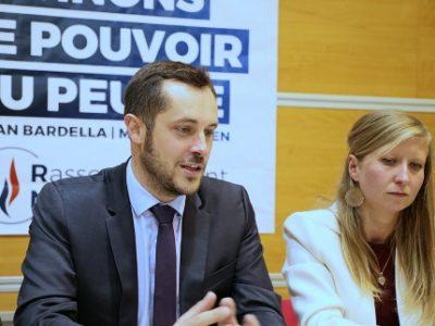 Nicolas Bay, numéro 7 sur la liste « Prenez le pouvoir ». © Rassemblement national Isère.