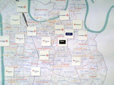 Carte de Grenoble mise sous influence du privé selon le rassemblement de la gauche et des écologistes.